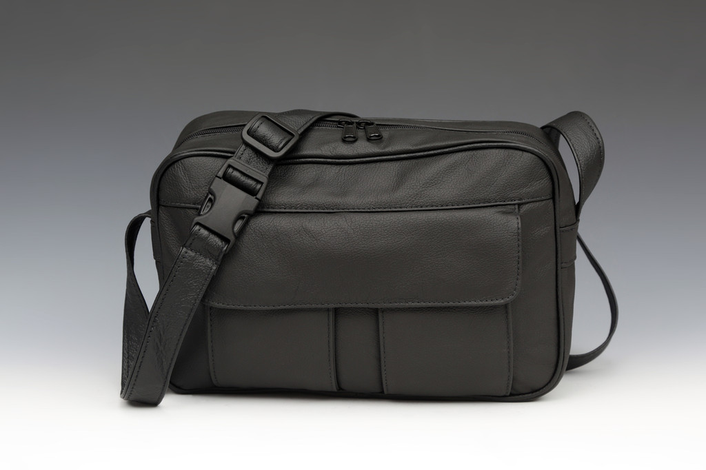 "Black ""E"" Bag Electronic Organizer with Overlay"