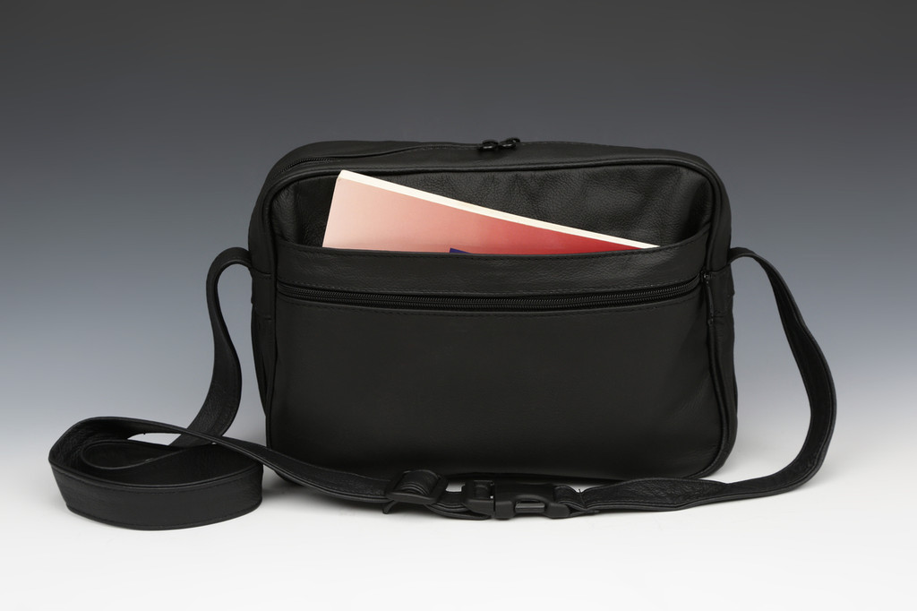"Black ""E"" Bag Electronic Organizer with Overlay"