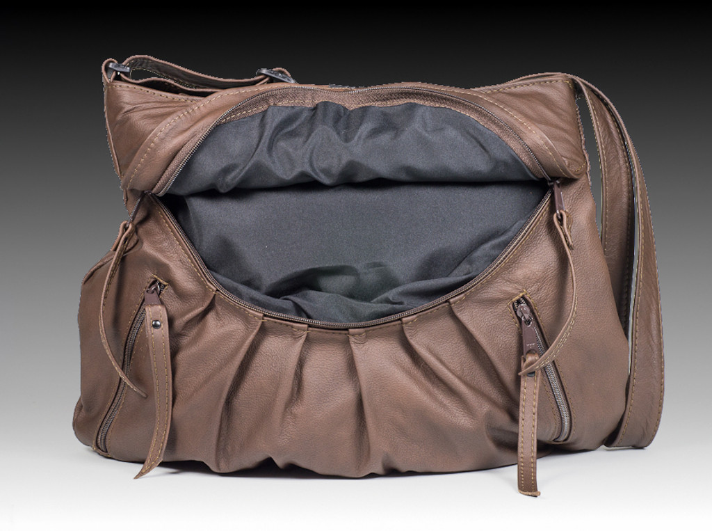 Distressed Brown Medium Route #66 Hobo