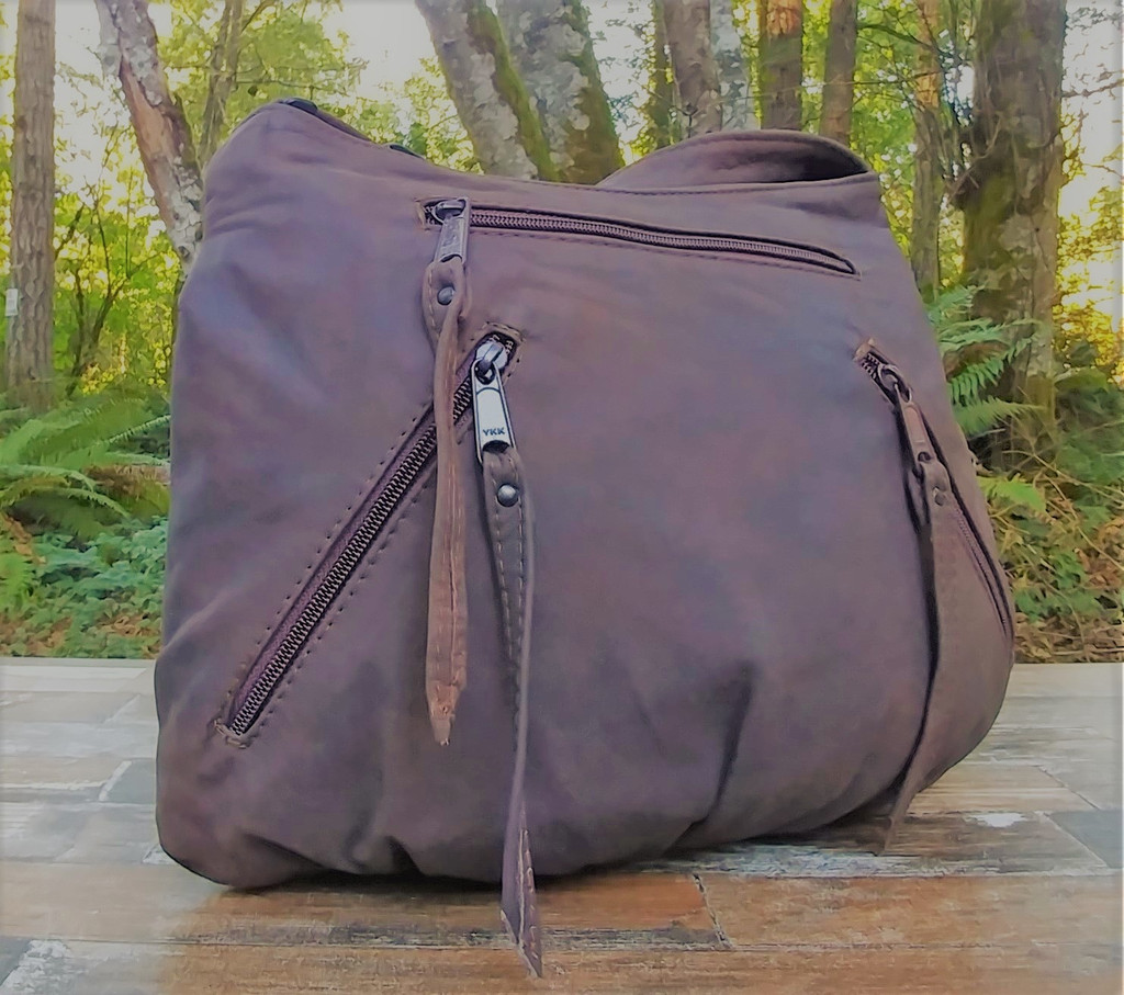 "Distressed Small ""Tia"" Hidden Pocket Hobo"