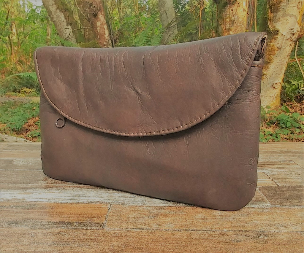 Distressed Brown Cell Phone Wallet Purse