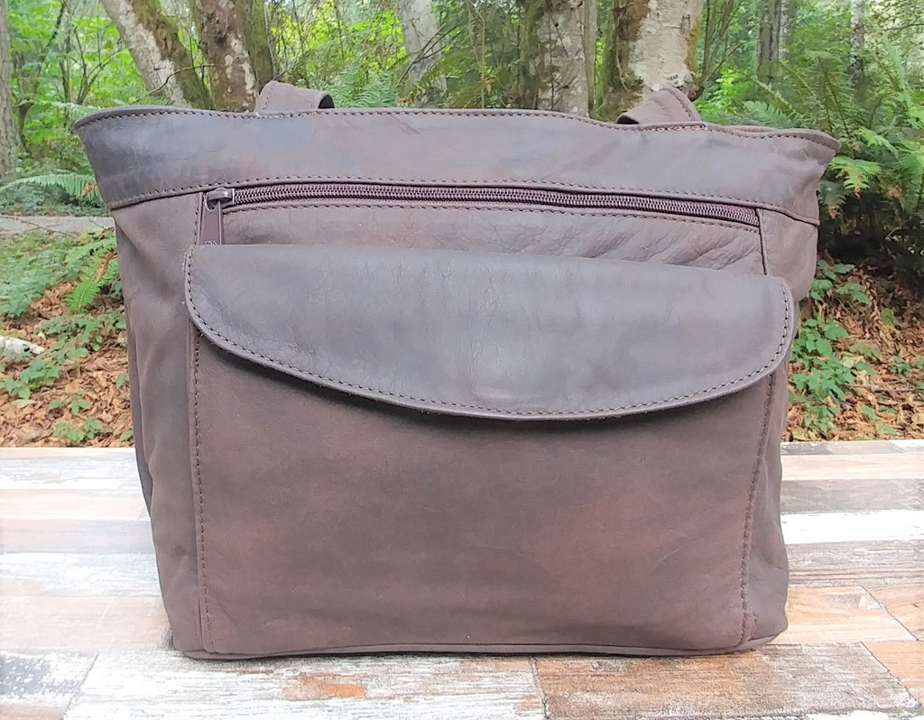 Distressed Brown Small Tote