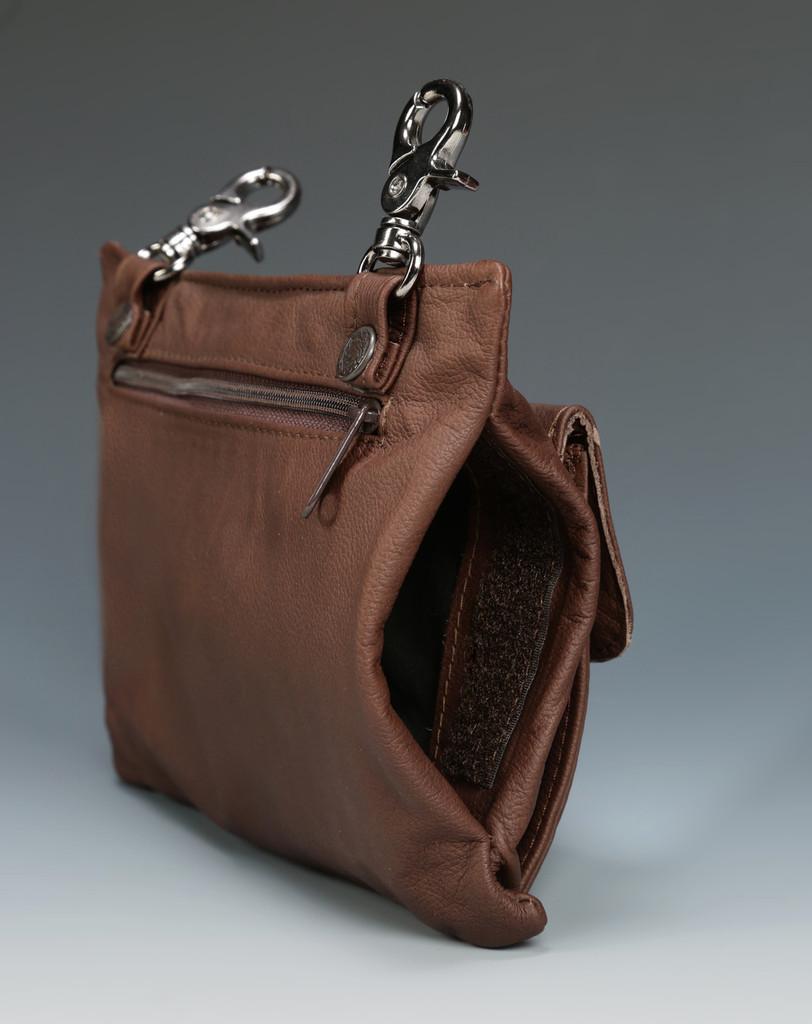 Distressed Brown Large Trigger Clip Bag