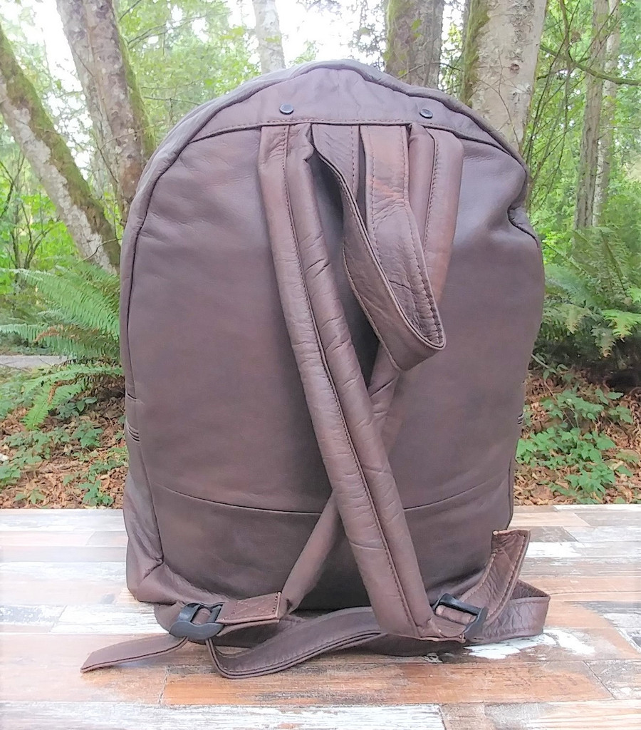 Distressed Brown Large Backpack