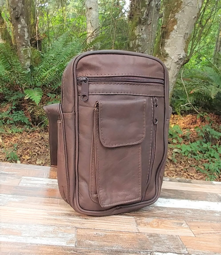 Distressed Brown Large Fancy Bagman