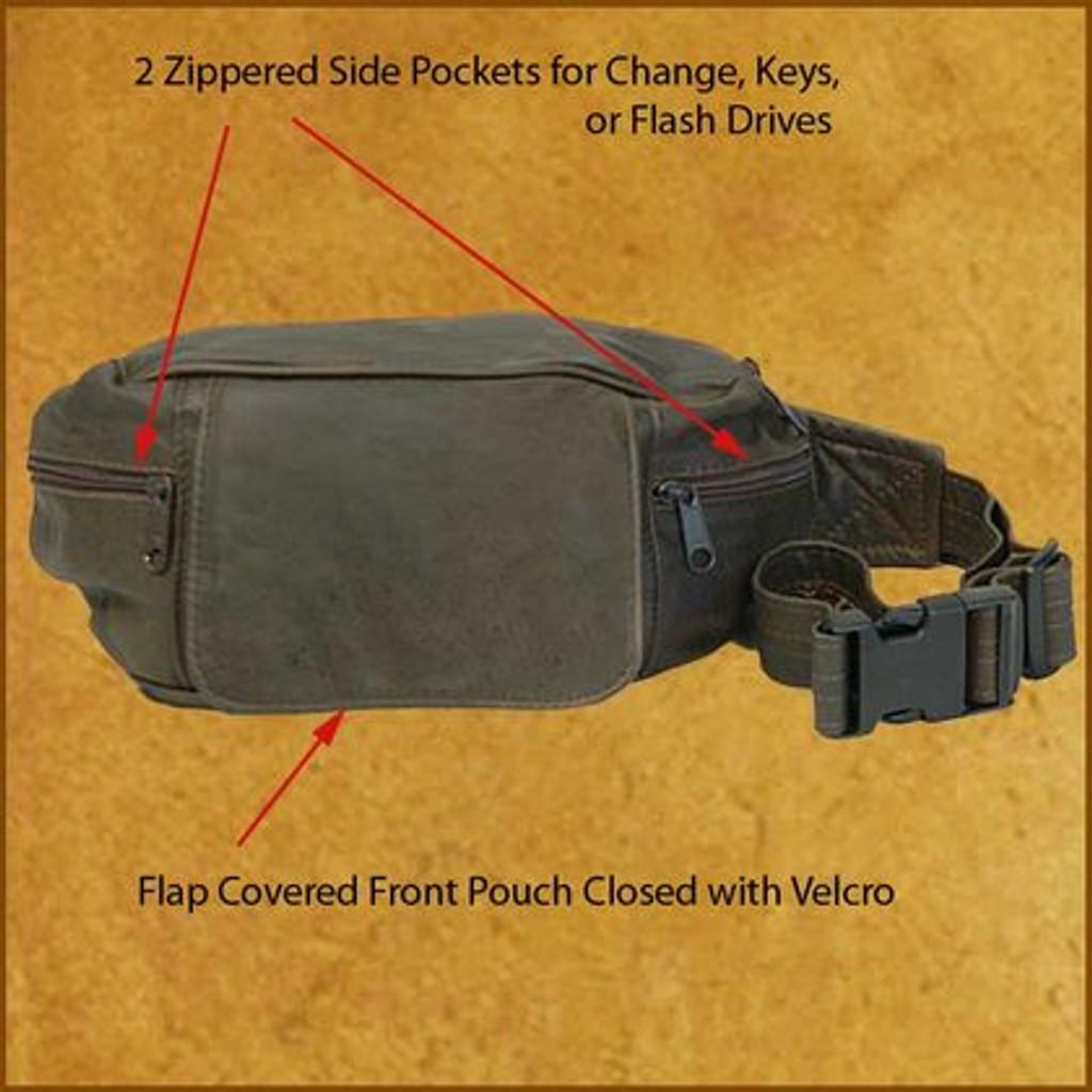 Distressed Brown Large Waist Pack