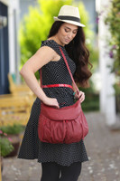 Burgundy Large Route #66 Hobo with Dogwood Medallion