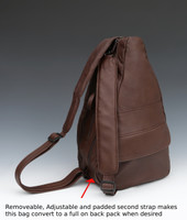 Large Black TravelMate Backpack with Black and Brown Wave