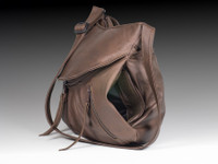 Cognac / Brown Small Route #66 Hobo with Double Horse Heads Medallion