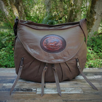 Brown Medium Route #66 Hobo with Running Horse Medallion