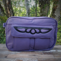 """Purple """"E"""" Bag Electronic Organizer with Overlay"""