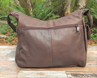 Distressed Brown Hidden Pocket Small Hobo