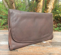 Distressed Brown Strapped Wallet