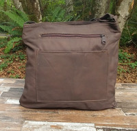 Distressed Brown Large Reader Bag