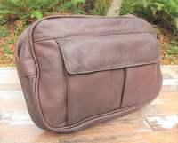 "Distressed Brown ""E-Bag"" Electronic Organizer"