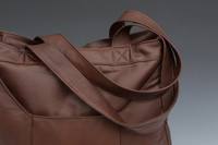 Distressed Brown Double Super Tote