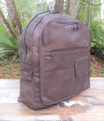 Distressed Brown Large Backpack