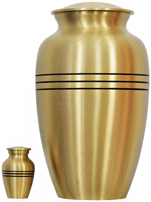 Urn FS 138-A - Brass Urn Velvet Box plus 1 Keepsake Gold