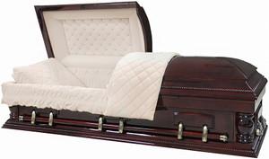 W-8710-FS  Solid Poplar wood casket