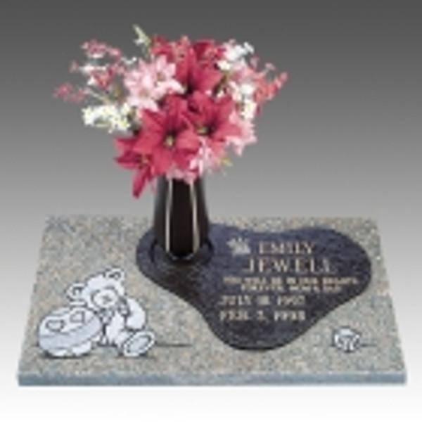 CHILD GB357 Granite w/ bronzes vase