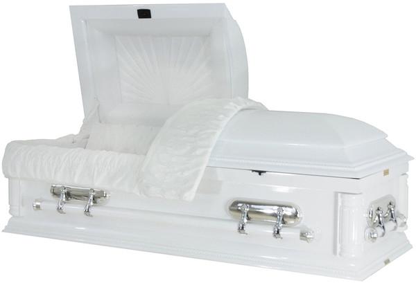 W-8931-FS  CHILDS  Solid wood white casket