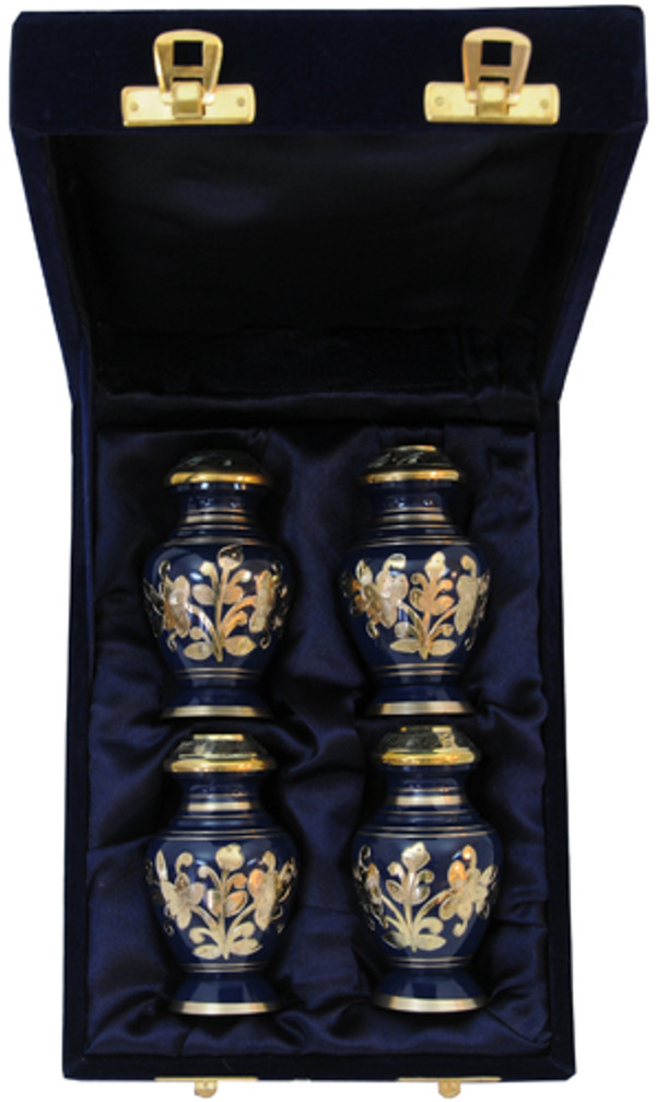 Urn FS 042-C - 4 Mini Brass Urn Velvet Box