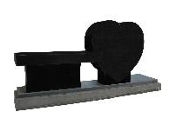 """Bench 6   """"Heart"""" pictured in Black.  Comes in 3 colors."""