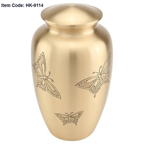 Urn HK 9114  Bronze with Butterflies