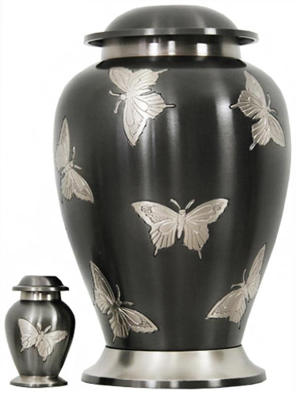 Urn FS 081-A Brass w/butterfly
