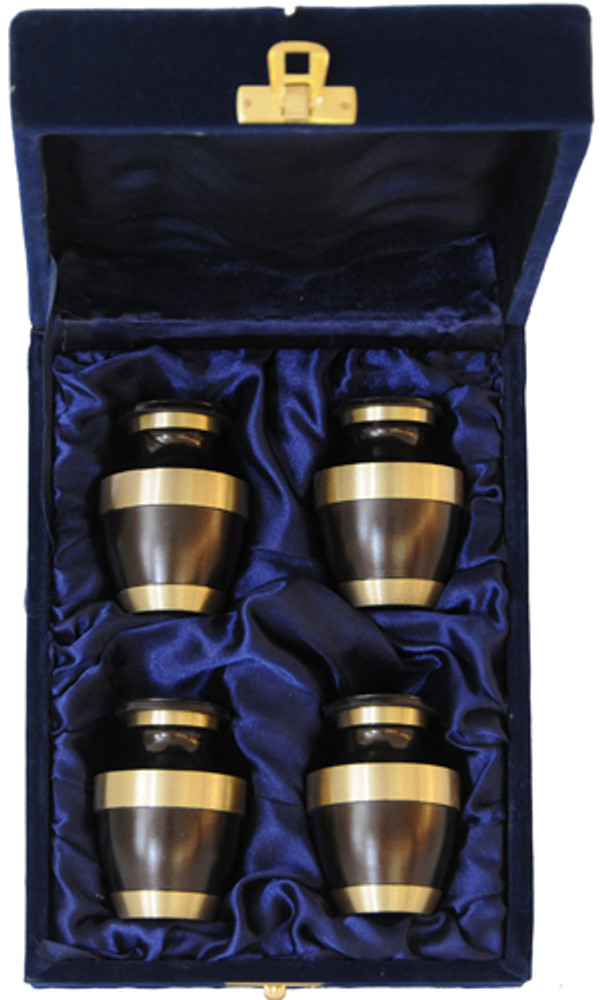 Urn FS 021-C - 4 Mini Brass Urn Velvet Box