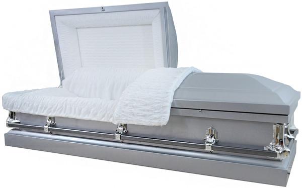 """M-4210-FS Silver 20 gauge non-protective metal casket """"The Ideal Casket"""""""