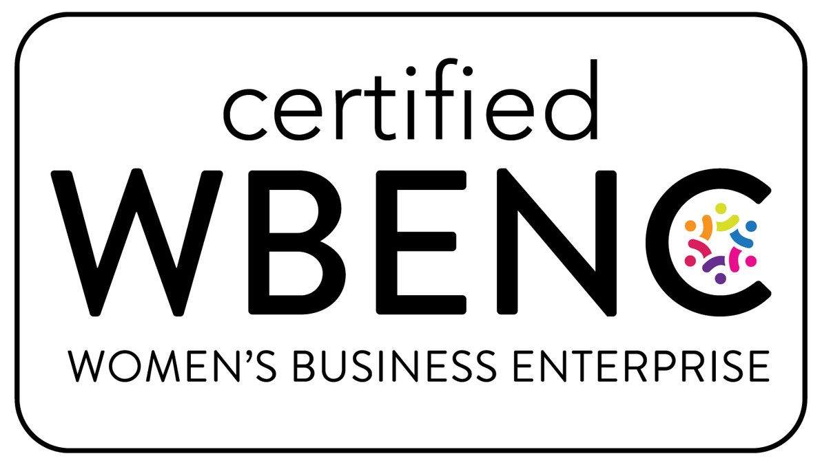 We've been certified as a Women's Business Enterprise