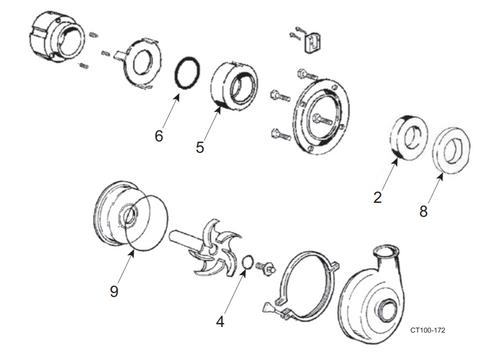 200 Series Waukesha Cherry-Burrel Pump Type 1 Seal Kit cut sheet