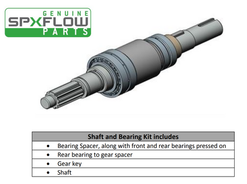 SPXFlow U1 Pump Shaft Assembly with Pressed on Bearings sold by Lighthouse Process