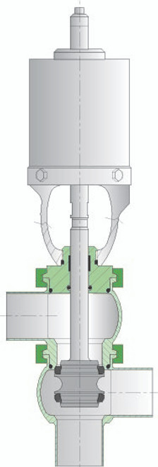 SPX Waukesha Cherry-Burrell W62 Divert Valve TT Body.  Buy now from Lighthouse Process.