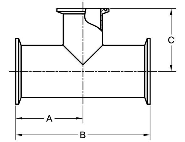 7RMP - CLAMP REDUCING TEE