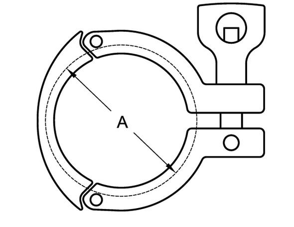 13MHHS - TRI-CLAMP (3 SEGMENT)