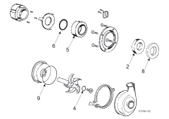200 Series Waukesha Cherry-Burrel Pump Type 1 Seal Kit cut sheet.  Complete.