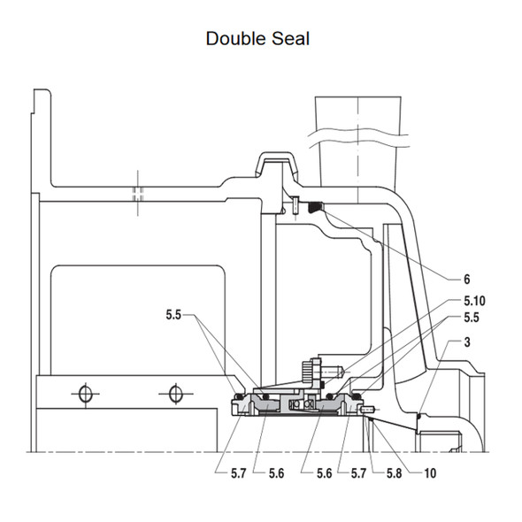 W+ Series Seal Kit, Double