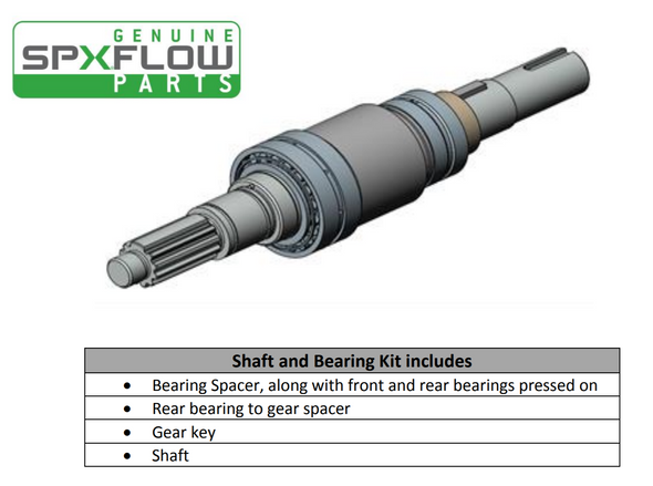 SPXFlow U2 Pump Shaft Assembly with Pressed on Bearings sold by Lighthouse Process