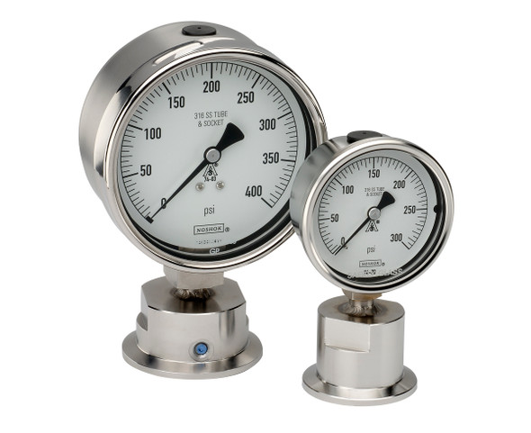 NOSHOK HEAVY DUTY 10 SERIES PRESSURE GAUGE. Stock Picture.
