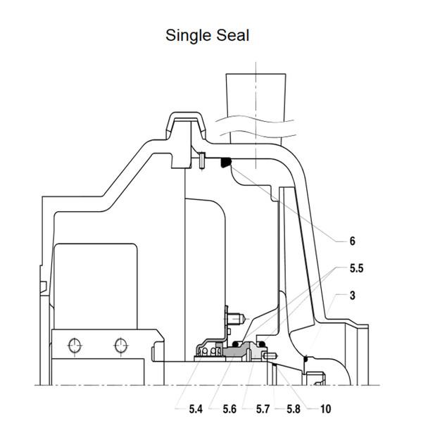 W+ Series Seal Kit, Single