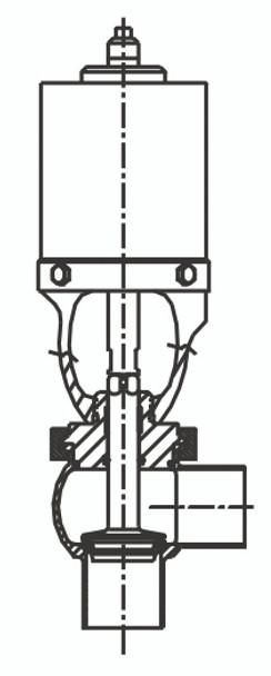 SPX Waukesha Cherry-Burrell W61 Shut Off Valve T Body.  Buy now from Lighthouse Process.