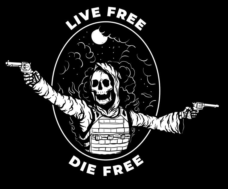 Live Free Die Free Sticker