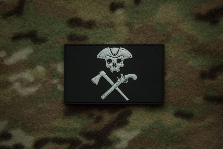 Jolly Roger Black Morale Patch