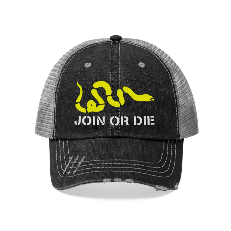 Join or Die Rugged Trucker Hat