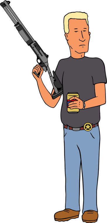 King of The Kill Boomhauer Sticker