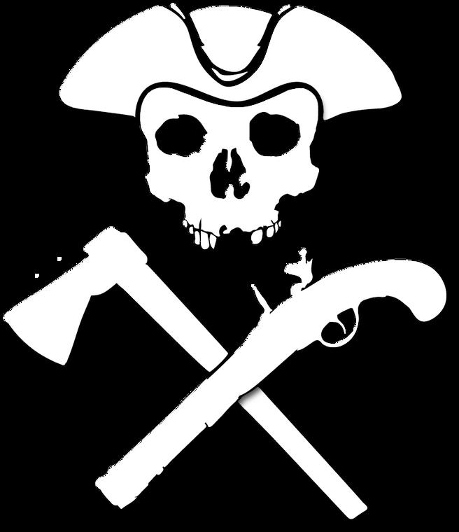 Jolly Roger WhiteTransfer Sticker