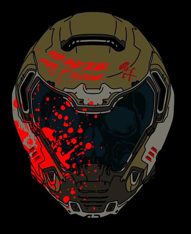 Doom Helmet Sticker