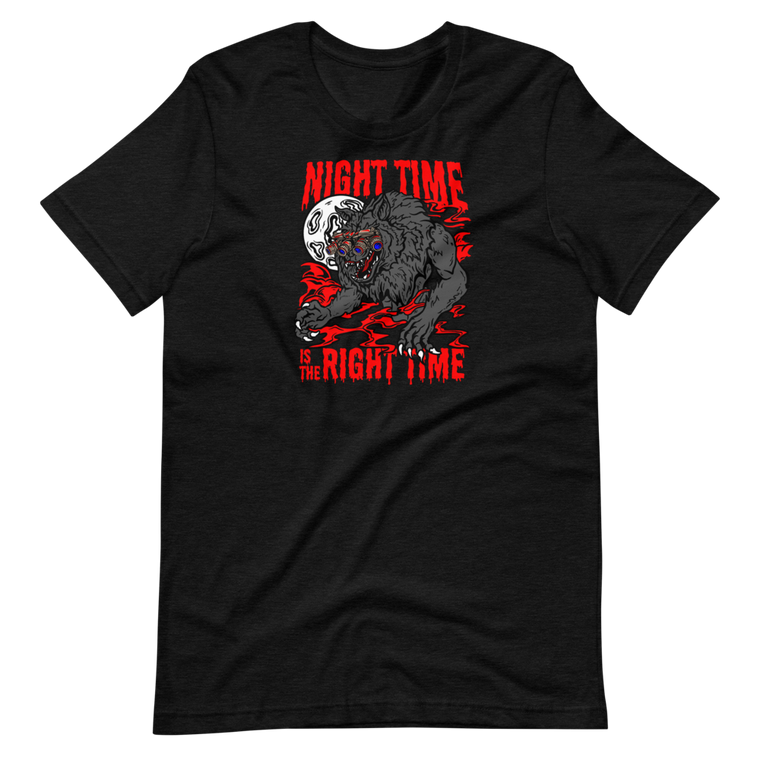 Night Time Red Short Sleeve Tee